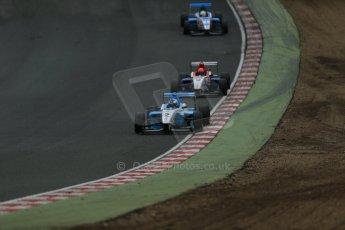 World © Octane Photographic Ltd. Brands Hatch, Race 3, Sunday 24th November 2013. BRDC Formula 4 Winter Series, MSV F4-13, Matthew (Matty) Graham – Douglas Motorsport and Pietro Fittipaldi – MGR. Digital Ref : 0867lw1d7515