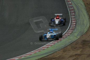 World © Octane Photographic Ltd. Brands Hatch, Race 3, Sunday 24th November 2013. BRDC Formula 4 Winter Series, MSV F4-13, Matthew (Matty) Graham – Douglas Motorsport and Pietro Fittipaldi – MGR. Digital Ref : 0867lw1d7545