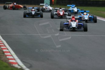 World © Octane Photographic Ltd. Brands Hatch, Race 4, Sunday 24th November 2013. BRDC Formula 4 Winter Series, MSV F4-13, Pietro Fittipaldi – MGR and Sennan Fielding – HHC Motorsport ahead of the pack. Digital Ref : 0868lw1d7691