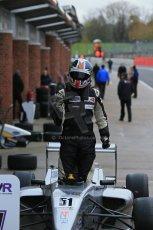 World © Octane Photographic Ltd. Brands Hatch, Race 4, Sunday 24th November 2013. BRDC Formula 4 Winter Series, MSV F4-13,  – Kieran Vernon - Hillspeed. Digital Ref : 0868lw1d7878