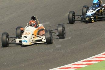 World © Octane Photographic Ltd. British Formula Ford – Brands Hatch, September 2nd 2011. JTR - Dan de Zille and Rendez-Vous Racing / Enigma Motorsport - Philippe Layac. Digital Ref : 0875cb1d1531