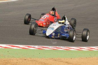 World © Octane Photographic Ltd. British Formula Ford – Brands Hatch, September 2nd 2011. Fluid Motorsport - Matt Rao and Jamun Racing - Spike Goddard. Digital Ref : 0875cb7d1591