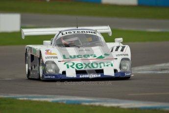 © Octane Photographic Ltd. 2012 Donington Historic Festival. Group C sportscars, qualifying. Spice SE88 - Mike Donovan. Digital Ref : 0320cb1d8687