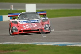 © Octane Photographic Ltd. 2012 Donington Historic Festival. Group C sportscars, qualifying. Spice SE89C - Peter Meyrick. Digital Ref : 0320cb1d8696