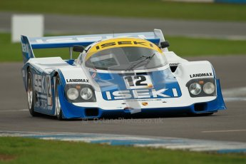 © Octane Photographic Ltd. 2012 Donington Historic Festival. Group C sportscars, qualifying. Porsche 956 - Russel Kempnich. Digital Ref : 0320cb1d8711