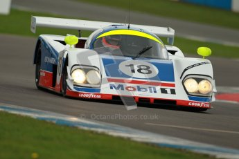 © Octane Photographic Ltd. 2012 Donington Historic Festival. Group C sportscars, qualifying. Aston Martin AMR1 - Andy Meyrick. Digital Ref : 0320cb1d8716