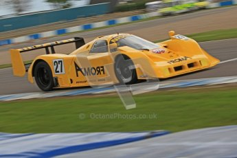 © Octane Photographic Ltd. 2012 Donington Historic Festival. Group C sportscars, qualifying. Nissan R90 CK - Steve Tandy. Digital Ref : 0320cb7d0251