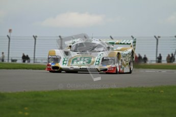 © Octane Photographic Ltd. 2012 Donington Historic Festival. Group C sportscars, qualifying. Porsche 962C - Henrik Lindberg. Digital Ref : 0320lw7d9479