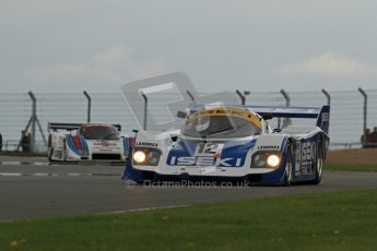 © Octane Photographic Ltd. 2012 Donington Historic Festival. Group C sportscars, qualifying. Porsche 956 - Russel Kempnich. Digital Ref : 0320lw7d9621