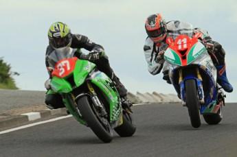 © Octane Photographic Ltd 2011. NW200 Thursday 19th May 2011. James Hillier, Kawasaki - Bournemouth Kawasaki; Stephen Thompson, BMW - T & R Motorsport. Digital Ref : LW7D1892