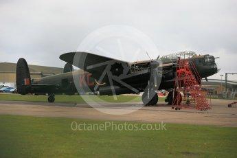 """World © Octane Photographic Ltd. October 6th 2015. RAF Coningsby. Battle of Britain Memorial Flight (BBMF) Lancaster Mk.III """"Thumper"""" PA474. Digital Ref : 1454CB1D6460"""