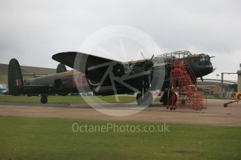 "World © Octane Photographic Ltd. October 6th 2015. RAF Coningsby. Battle of Britain Memorial Flight (BBMF) Lancaster Mk.III ""Thumper"" PA474. Digital Ref :  1454CB1D6467"