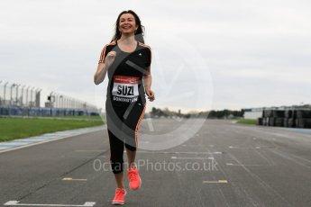 World © Octane Photographic Ltd. 5th February 2016 – Donington Park Racetrack. Suzi Perry launches the 2016 Donington Park Summer Running Festival. Digital Ref : 1500CB1D0245
