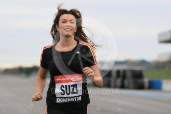 World © Octane Photographic Ltd. 5th February 2016 – Donington Park Racetrack. Suzi Perry launches the 2016 Donington Park Summer Running Festival. Digital Ref : 1500CB1D0275