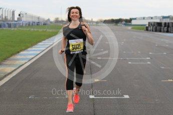 World © Octane Photographic Ltd. 5th February 2016 – Donington Park Racetrack. Suzi Perry launches the 2016 Donington Park Summer Running Festival. Digital Ref : 1500CB1D0288