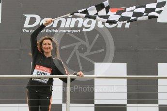 World © Octane Photographic Ltd. 5th February 2016 – Donington Park Racetrack. Suzi Perry launches the 2016 Donington Park Summer Running Festival. Digital Ref : 1500CB1D0383