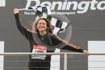 World © Octane Photographic Ltd. 5th February 2016 – Donington Park Racetrack. Suzi Perry launches the 2016 Donington Park Summer Running Festival. Digital Ref : 1500CB1D0405