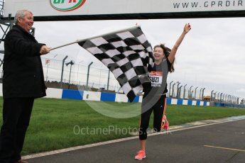 World © Octane Photographic Ltd. 5th February 2016 – Donington Park Racetrack. Suzi Perry and Brendan Foster launch the 2016 Donington Park Summer Running Festival. Digital Ref : 1500CB7D6057