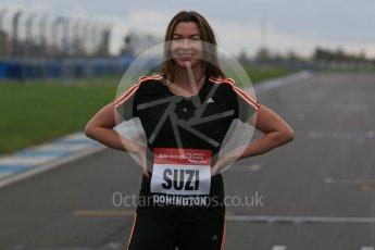 World © Octane Photographic Ltd. 5th February 2016 – Donington Park Racetrack. Suzi Perry launches the 2016 Donington Park Summer Running Festival. Digital Ref : 1500LB1D6555