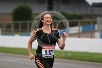 World © Octane Photographic Ltd. 5th February 2016 – Donington Park Racetrack. Suzi Perry launches the 2016 Donington Park Summer Running Festival. Digital Ref : 1500LB1D6582