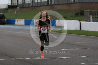 World © Octane Photographic Ltd. 5th February 2016 – Donington Park Racetrack. Suzi Perry launches the 2016 Donington Park Summer Running Festival. Digital Ref : 1500LB1D6593