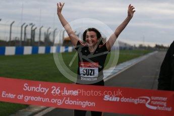 World © Octane Photographic Ltd. 5th February 2016 – Donington Park Racetrack. Suzi Perry launches the 2016 Donington Park Summer Running Festival. Digital Ref : 1500LB1D6629