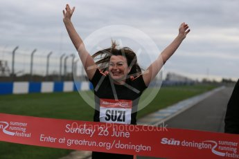 World © Octane Photographic Ltd. 5th February 2016 – Donington Park Racetrack. Suzi Perry launches the 2016 Donington Park Summer Running Festival. Digital Ref : 1500LB1D6632