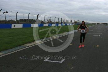World © Octane Photographic Ltd. 5th February 2016 – Donington Park Racetrack. Suzi Perry launches the 2016 Donington Park Summer Running Festival. Digital Ref : 1500LB5D6217