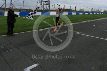 World © Octane Photographic Ltd. 5th February 2016 – Donington Park Racetrack. Suzi Perry and Brendan Foster launch the 2016 Donington Park Summer Running Festival. Digital Ref : 1500LB5D6220