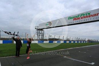 World © Octane Photographic Ltd. 5th February 2016 – Donington Park Racetrack. Suzi Perry and Brendan Foster launch the 2016 Donington Park Summer Running Festival. Digital Ref : 1500LB5D6225