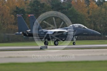 """World © Octane Photographic Ltd. RAF Lakenheath operations 16th November 2015, USAF (United States Air Force) 48th Fighter Wing """"Statue of Liberty Wing"""" 494 Fighter Squadron """"Panthers"""", McDonnell Douglas F-15E Strike Eagle. Digital Ref : 1469CB1D3793"""