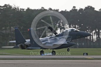 """World © Octane Photographic Ltd. RAF Lakenheath operations 16th November 2015, USAF (United States Air Force) 48th Fighter Wing """"Statue of Liberty Wing"""" 492 Fighter Squadron """"Madhatters"""", McDonnell Douglas F-15E Strike Eagle LN 91-321. Digital Ref : 1469CB1D3870"""