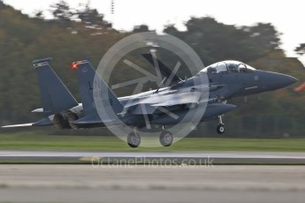 """World © Octane Photographic Ltd. RAF Lakenheath operations 16th November 2015, USAF (United States Air Force) 48th Fighter Wing """"Statue of Liberty Wing"""" 492 Fighter Squadron """"Madhatters"""", McDonnell Douglas F-15E Strike Eagle LN 48OG 91-318. Digital Ref : 1469CB1D3920"""