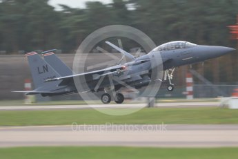 """World © Octane Photographic Ltd. RAF Lakenheath operations 16th November 2015, USAF (United States Air Force) 48th Fighter Wing """"Statue of Liberty Wing"""" 494 Fighter Squadron """"Panthers"""", McDonnell Douglas F-15E Strike Eagle. Digital Ref : 1469CB1D4102"""