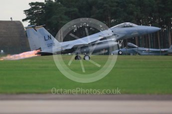 """World © Octane Photographic Ltd. RAF Lakenheath operations 16th November 2015, USAF (United States Air Force) 48th Fighter Wing """"Statue of Liberty Wing"""" 493 Fighter Squadron """"The Grim Reapers"""", McDonnell Douglas F-15C Eagle LN 86-172. Digital Ref : 1469CB1D4164"""