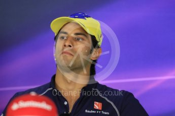 World © Octane Photographic Ltd. F1 Austrian GP FIA Drivers' Press Conference, Red Bull Ring, Spielberg, Austria. Thursday 30th June 2016. Sauber F1 Team – Felipe Nasr. Digital Ref :1596LB1D4976