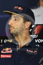 World © Octane Photographic Ltd. F1 Austrian GP FIA Drivers' Press Conference, Red Bull Ring, Spielberg, Austria. Thursday 30th June 2016. Red Bull Racing – Daniel Ricciardo . Digital Ref :1596LB1D4985
