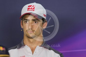 World © Octane Photographic Ltd. F1 Austrian GP FIA Drivers' Press Conference, Red Bull Ring, Spielberg, Austria. Thursday 30th June 2016. Haas F1 Team - Esteban Gutierrez. Digital Ref :1596LB1D5005