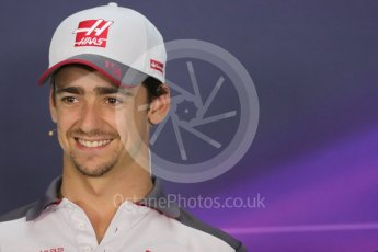 World © Octane Photographic Ltd. F1 Austrian GP FIA Drivers' Press Conference, Red Bull Ring, Spielberg, Austria. Thursday 30th June 2016. Haas F1 Team - Esteban Gutierrez. Digital Ref :1596LB1D5170