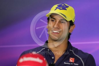 World © Octane Photographic Ltd. F1 Austrian GP FIA Drivers' Press Conference, Red Bull Ring, Spielberg, Austria. Thursday 30th June 2016. Sauber F1 Team – Felipe Nasr. Digital Ref :1596LB1D5215