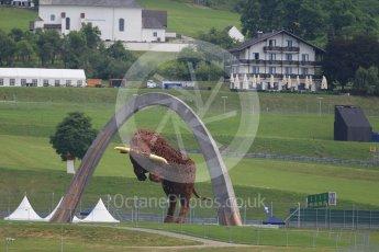 World © Octane Photographic Ltd. Red Bull arch. Thursday 30th June 2016, F1 Austrian GP, Red Bull Ring, Spielberg, Austria. Digital Ref : 1594CB1D1557
