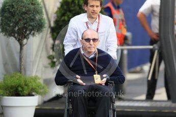 World © Octane Photographic Ltd. Williams Martini Racing Team Principle – Sir Frank Williams. Thursday 30th June 2016, F1 Austrian GP Paddock, Red Bull Ring, Spielberg, Austria. Digital Ref :1594CB1D1699