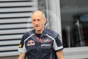 World © Octane Photographic Ltd. Scuderia Toro Rosso Team Principle - Franz Tost. Thursday 30th June 2016, F1 Austrian GP Paddock, Red Bull Ring, Spielberg, Austria. Digital Ref :1594CB1D1733