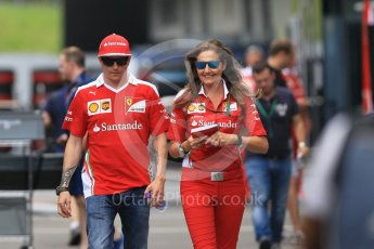 World © Octane Photographic Ltd. Scuderia Ferrari SF16-H – Kimi Raikkonen. Thursday 30th June 2016, F1 Austrian GP Paddock, Red Bull Ring, Spielberg, Austria. Digital Ref :1594CB1D1802