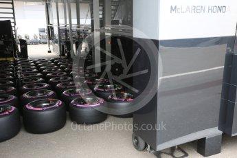 World © Octane Photographic Ltd. McLaren Honda preparing tyres. Thursday 30th June 2016, F1 Austrian GP Paddock, Red Bull Ring, Spielberg, Austria. Digital Ref : 1594CB5D2371
