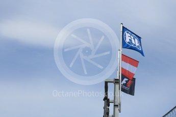 World © Octane Photographic Ltd. FIA Formula 1 flag. Thursday 30th June 2016, F1 Austrian GP Pit Lane, Red Bull Ring, Spielberg, Austria. Digital Ref : 1594CB5D2385