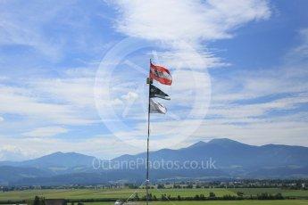 World © Octane Photographic Ltd. Fans flags. Thursday 30th June 2016, F1 Austrian GP, Red Bull Ring, Spielberg, Austria. Digital Ref : 1594CB5D2487