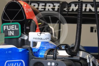 World © Octane Photographic Ltd. Manor Racing MRT05. Thursday 30th June 2016, F1 Austrian GP Pit Lane, Red Bull Ring, Spielberg, Austria. Digital Ref : 1594LB1D0203