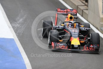 World © Octane Photographic Ltd. Red Bull Racing RB12 with halo cockpit protection device – Pierre Gasly. Tuesday 12th July 2016, F1 In-season testing, Silverstone UK. Digital Ref :1618LB1D7231