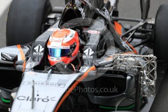 World © Octane Photographic Ltd. Sahara Force India VJM09 - Nikita Mazepin. Tuesday 12th July 2016, F1 In-season testing, Silverstone UK. Digital Ref :1618LB1D7299